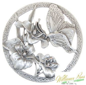 Pot Pourri Lid Pewter Butterflies