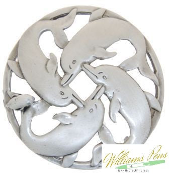Pot Pourri Lid Pewter Dolphins