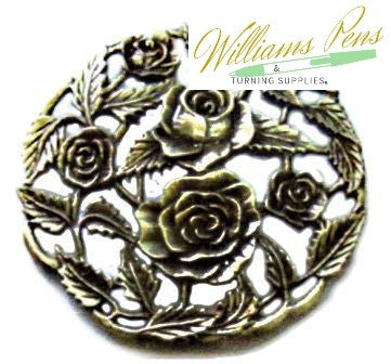 Pot Pourri Lid Pewter Roses and Rose Buds