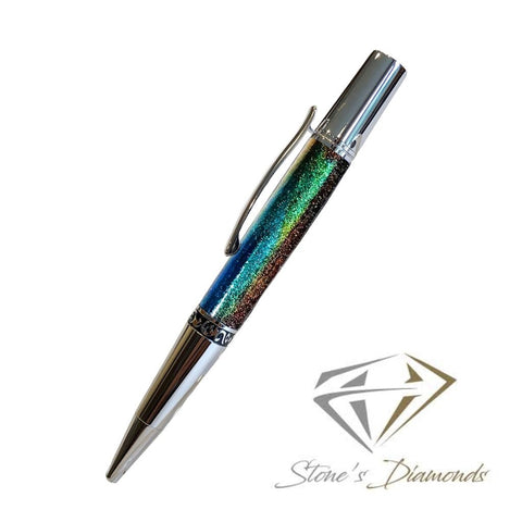 Rainbow Dash Diamond Acrylic Pen Blank Round