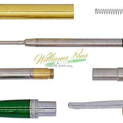 Chrome & Green Sierra Pen Kits
