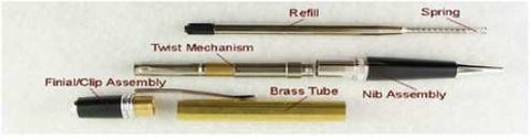 Satin Chrome & Chrome Elegant Beauty Sierra Pen Kit - Williams Pens & Turning Supplies.