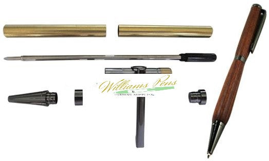 Slimline Pen Kit Gun Metal