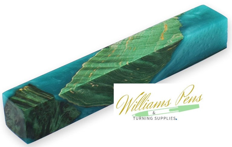 Stabilised Pen Blanks Green Hybrid - Williams Pens & Turning Supplies.