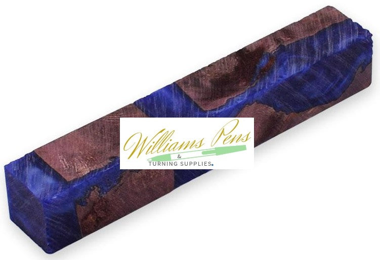 Stabilised Pen Blanks Purple & Blue Hybrid - Williams Pens & Turning Supplies.