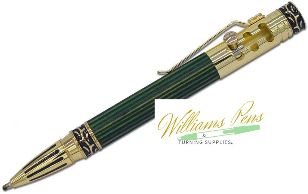 Gold Stick Shift Pen Kit - Williams Pens & Turning Supplies.