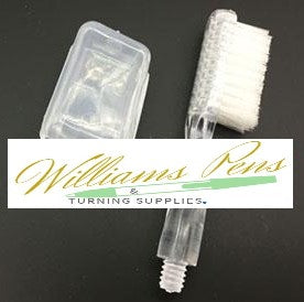 Replacement Toothbrush with White Protective Cap