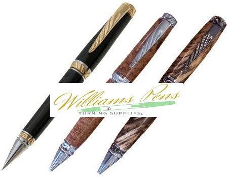 Satin Chrome Ultra Cigar Pen Kit - Williams Pens & Turning Supplies.