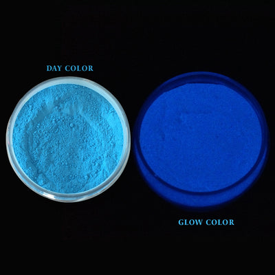 Glow In The Dark Mica Pigment Blue 100gm Jar