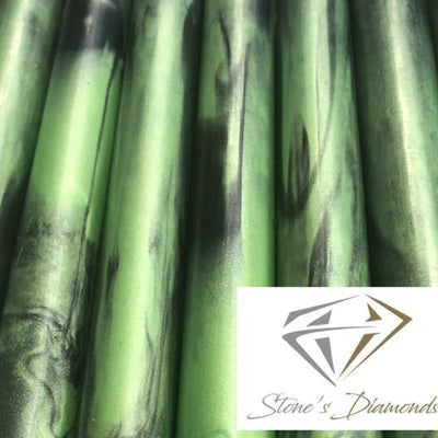 Green Mamba Diamond Infused Acrylic Pen Blank