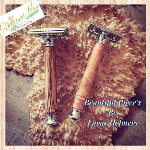 Gold Safety Razor Shaver  Kits - Williams Pens & Turning Supplies.