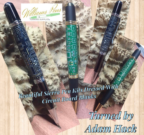 Circuit Board Sierra Blank Green - Williams Pens & Turning Supplies.