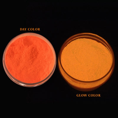 Glow In The Dark Mica Pigment Orange Yellow 100gm Jar