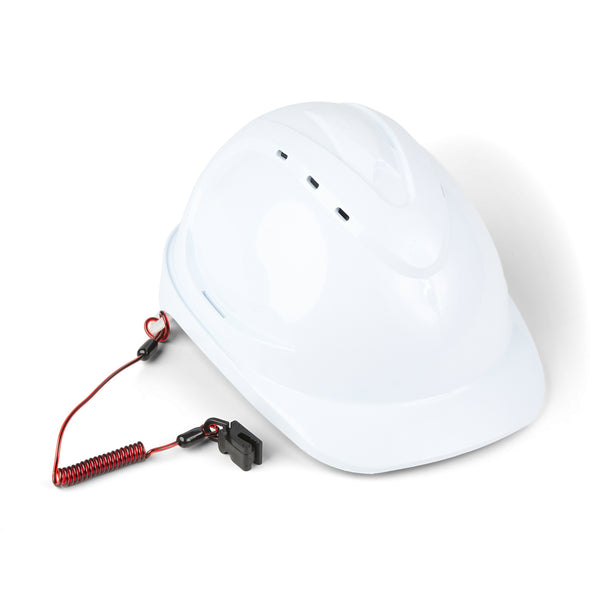 Coil Hard Hat Tether (Non-Conductive)
