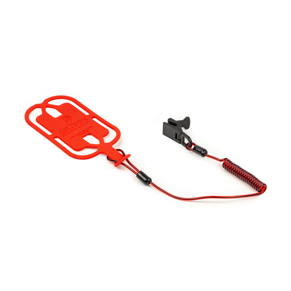Phone Gripper With Coil Tether (Non-Conductive)