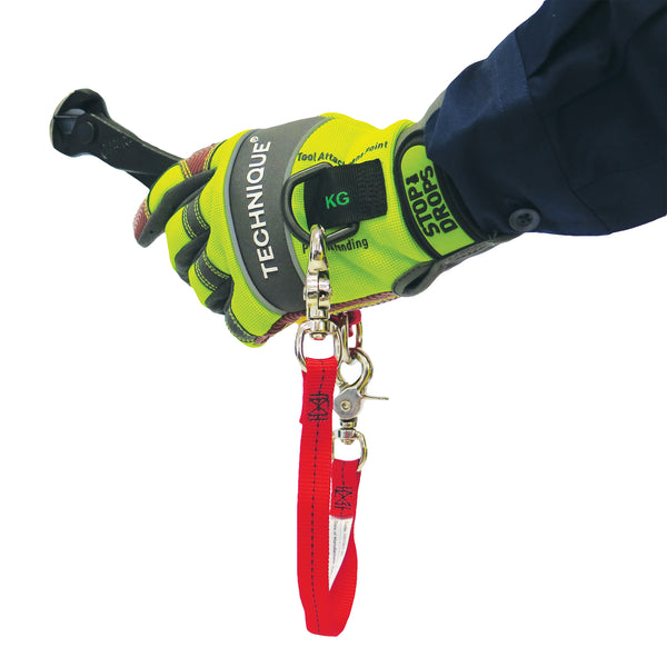 Gecko Technique Gloves With Tool Tether