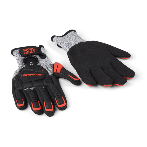 C5-Impact Technique Gloves With Tool Tether