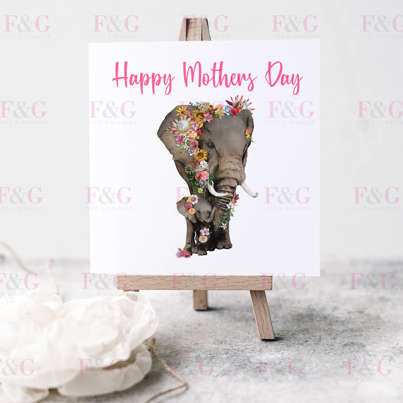 Elephant Mothers Day Card