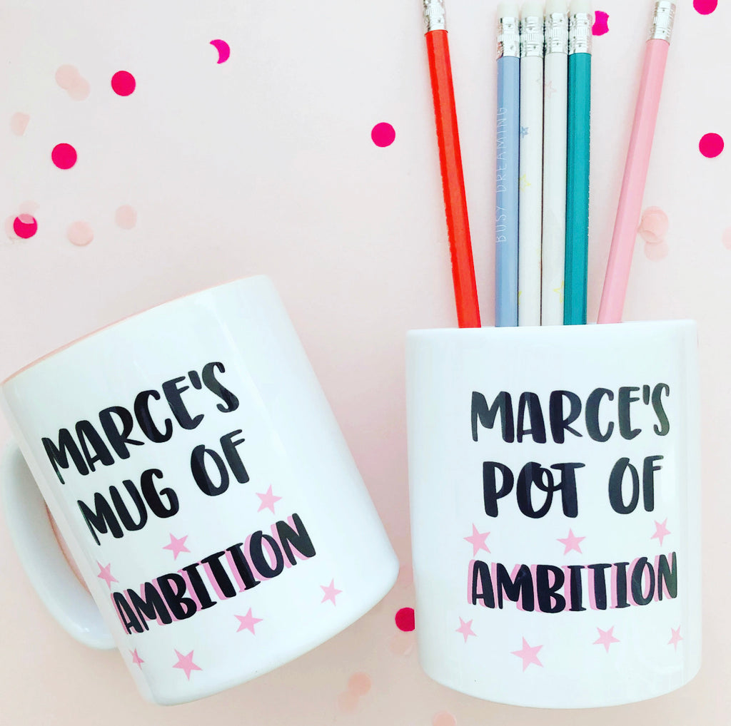 Personalised Pot of Ambition