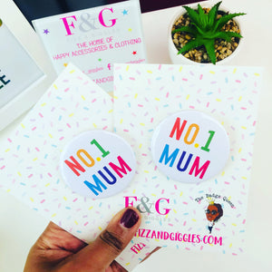 No.1 Mum Badge