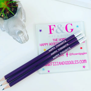 Happy Thoughts - Foil Stamped Pencil