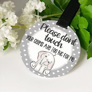 Elephant Design Pram/ Car Seat Tag
