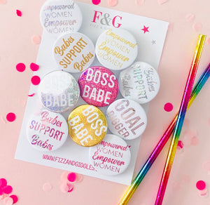 Female Empowerment Badges Pk 10