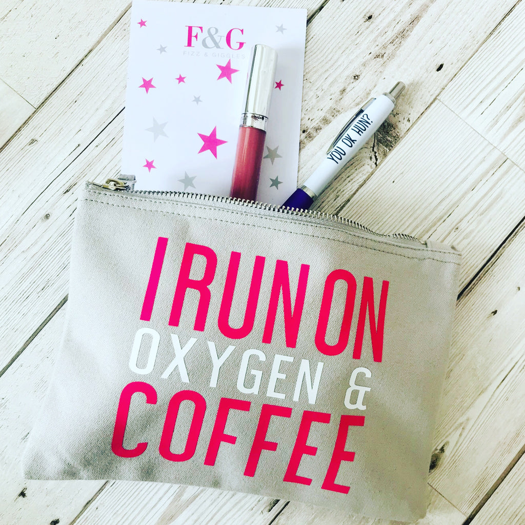 I run on oxygen & coffee accessory pouch