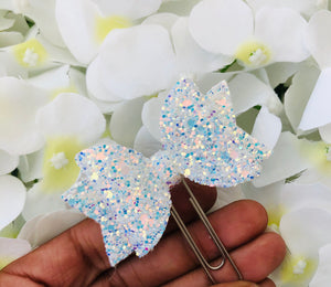 Bow Planner Clip - Ice Blue