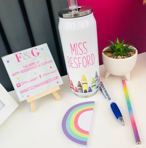 Personalised Crayon Design Insulated Can Style Tumbler