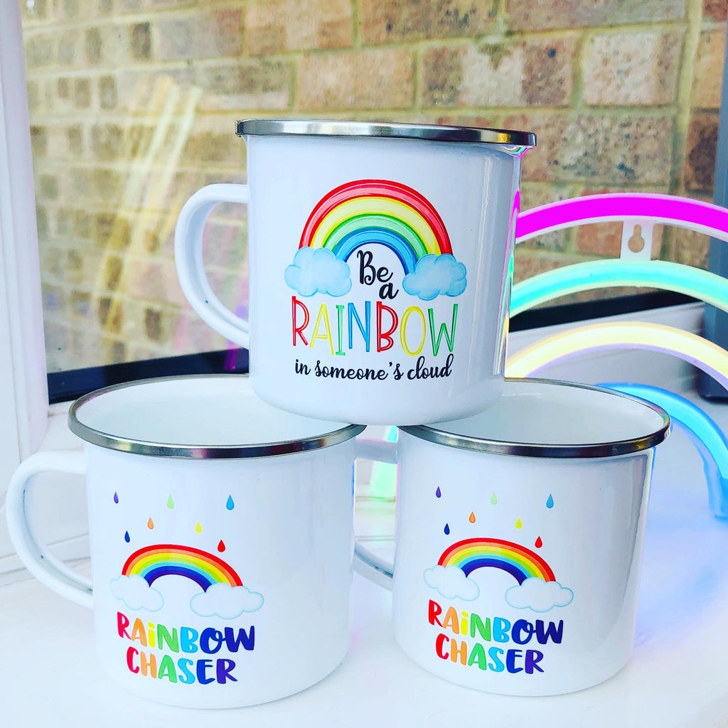 Enamel Rainbow Mugs