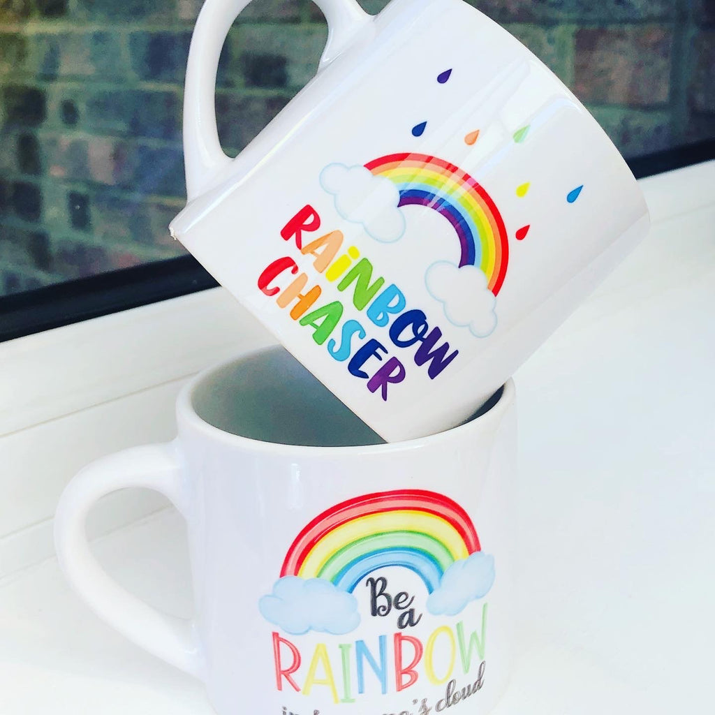 Mini ceramic Rainbow Mugs