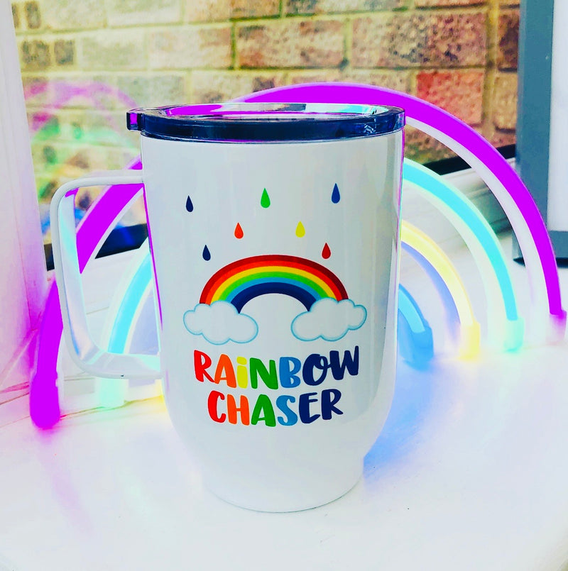 Rainbow Chaser 500ml Insulated Mug With Lid