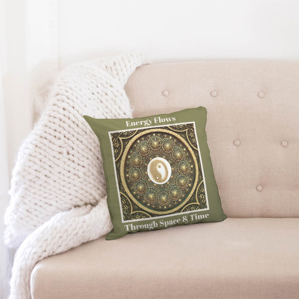 Energy Yin & Yang Throw Pillow Case 16x16