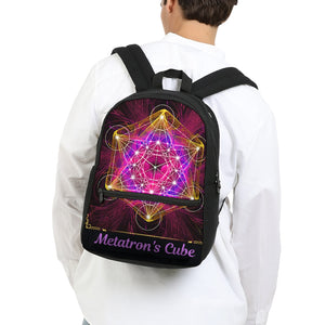 Metatron's Cube Small Canvas Backpack