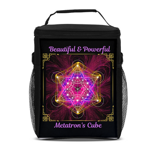 Metatron's Cube Tall Insulated Lunch Bag