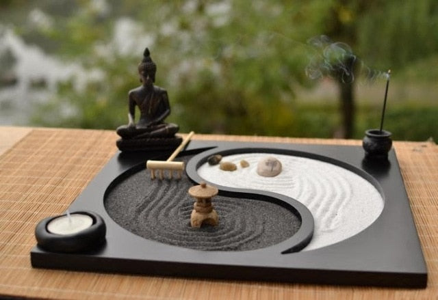 Tabletop Japan Style Zen Garden Set