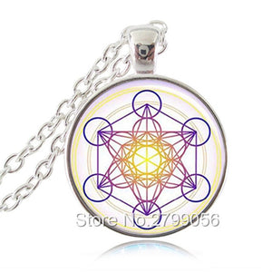 Metatron Cube Sacred Geometry Pendant Necklace