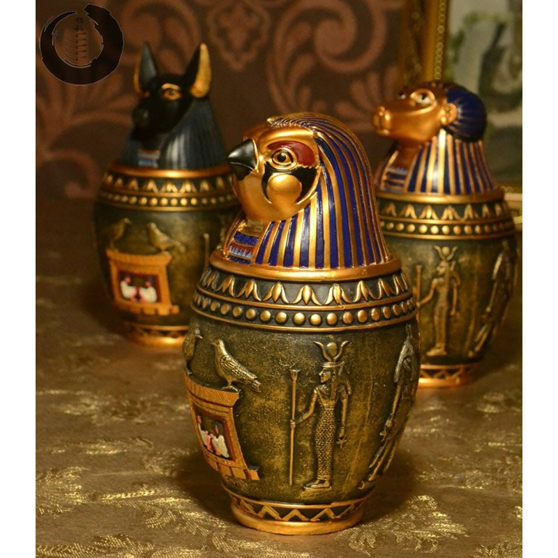 Egyptian Statue Storage Jars