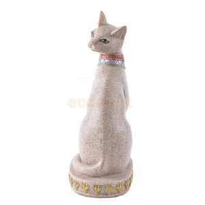 Hand Carved Ancient Egyptian Mau Cat Wealth Statue