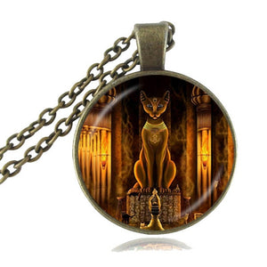 Ancient Egyptian Cat Goddess Glass Amulet