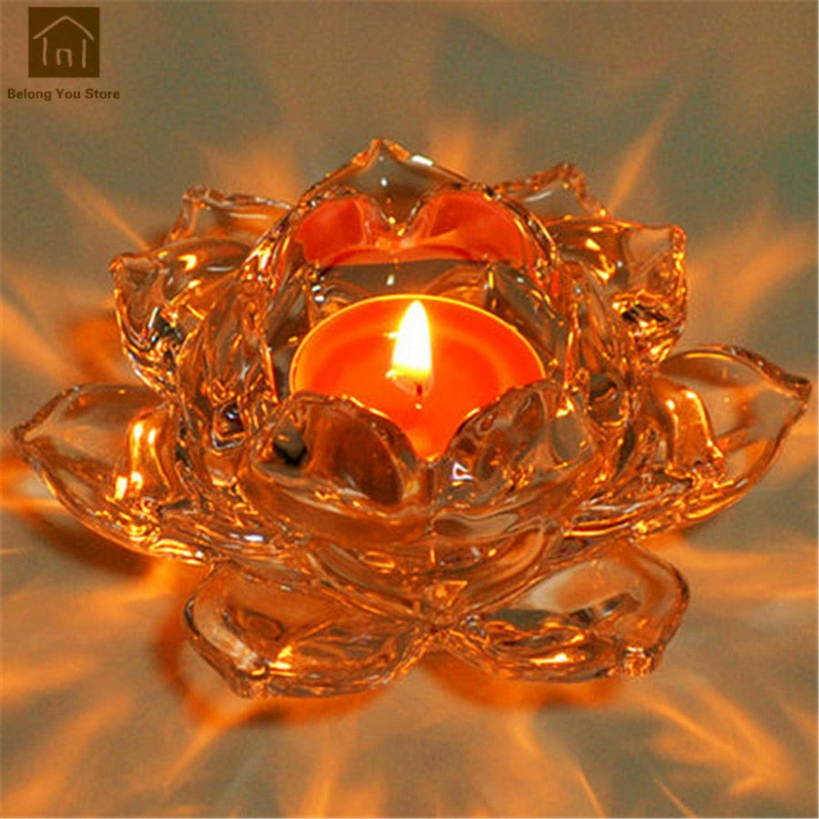 Crystal Lotus Tealight Holder