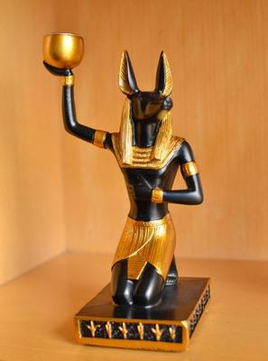 Egyptian Anubis Statue Candle Holder