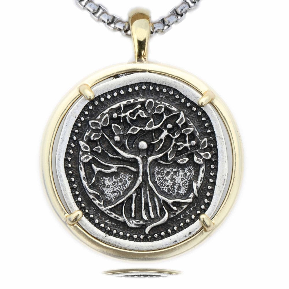 Metal Tree of Life Pendant Necklace