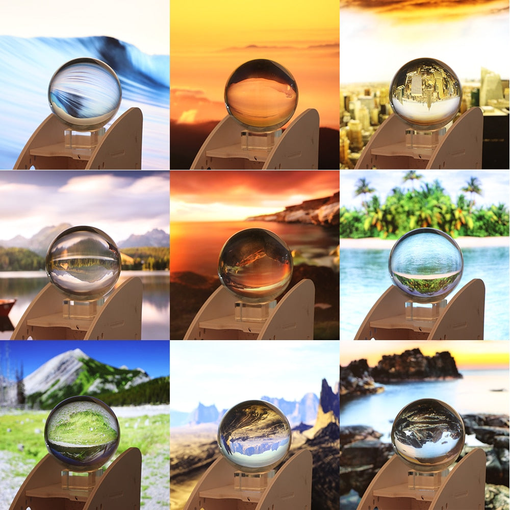 80mm Clear Crystal Ball with Crystal Stand