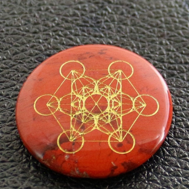 Crystal Flower Of Life Multidimensional Wafer