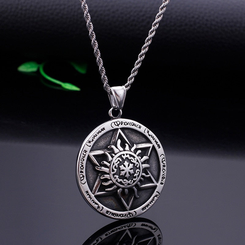 Solomon Seals Six-pointed Star Totem Stainless Steel