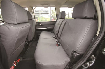 Rear Canvas Seat Covers Toyota LandCruiser 79 Series Dual Cab