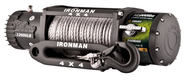 12,000lb Ironman Synthetic Rope Monster Winch