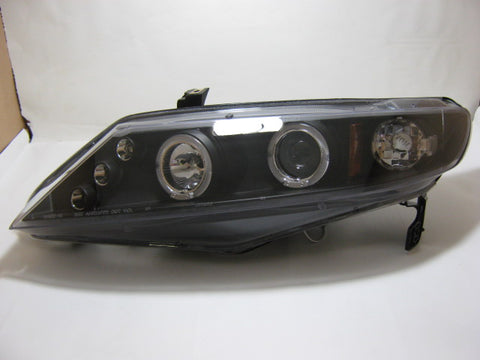 2006-2011 Honda Civic Sedan Black Housing Projector Style Headlights